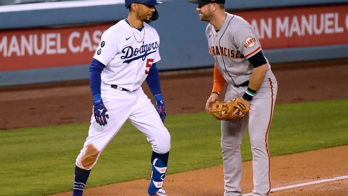 The Dodgers and Giants meet for the first time in the postseason