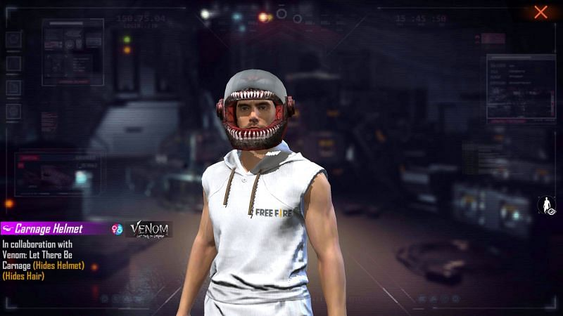 The Carnage Helmet is part of the cosmetic items that will be added in Free Fire (Image via Free Fire)