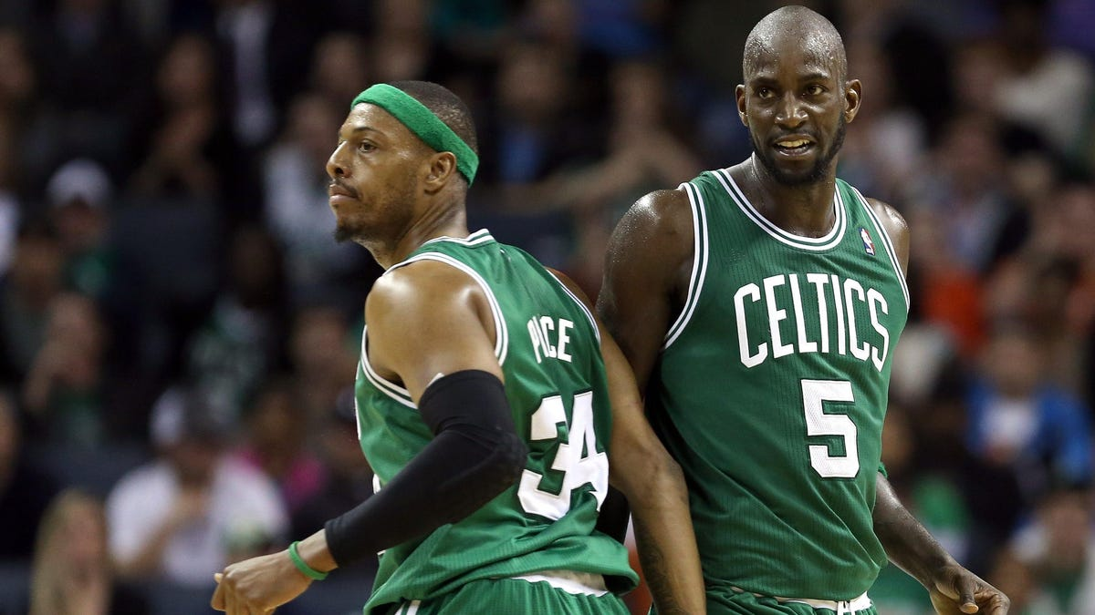 NBA Hall of Famers Paul Pierce and Kevin Garnett on podcast