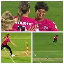 Shafali Verma nails the direct hit to send Annabel Sutherland packing [Image- Screengrab].