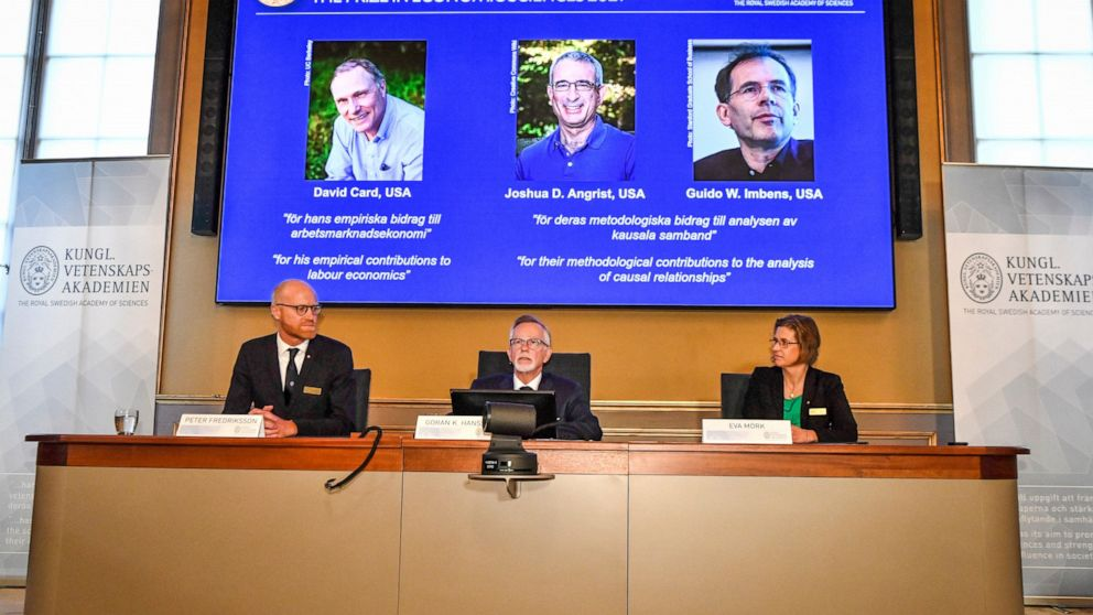 3 US-based economists win Nobel for research on wages, jobs
