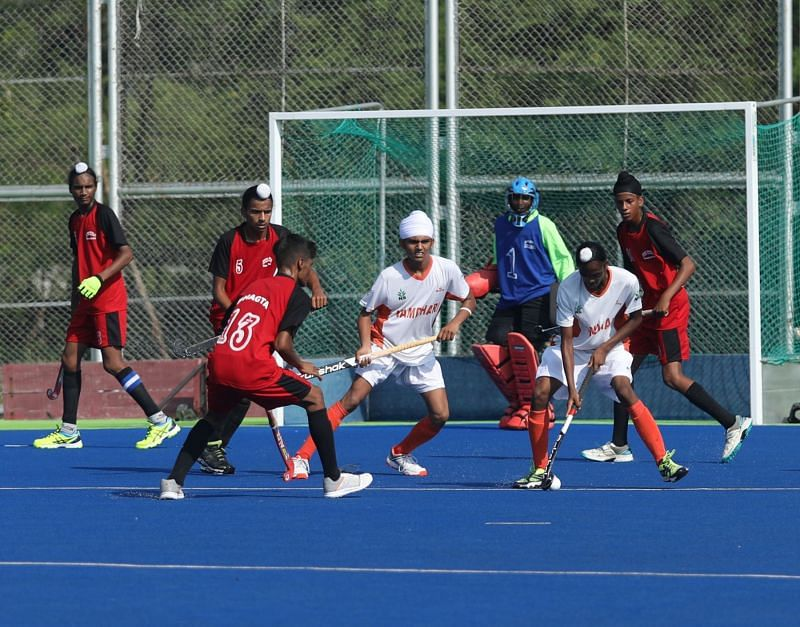 Action from the sub-junior National Championship held at Bhopal. (PC: Hockey India)