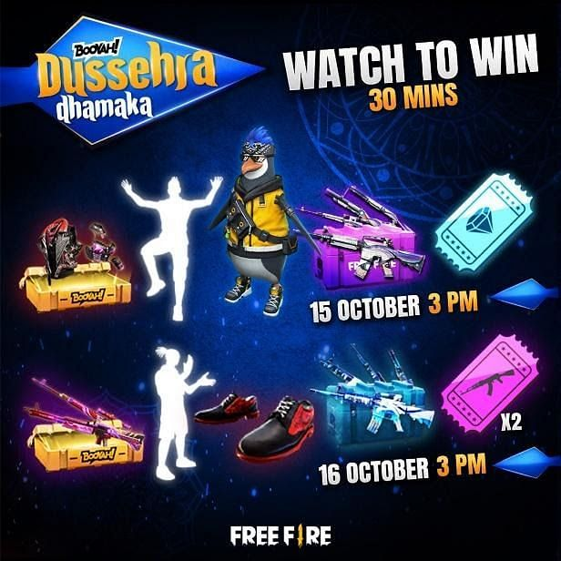The Booyah Dussehra Dhamaka will occur on 15 & 16 October at 3 pm