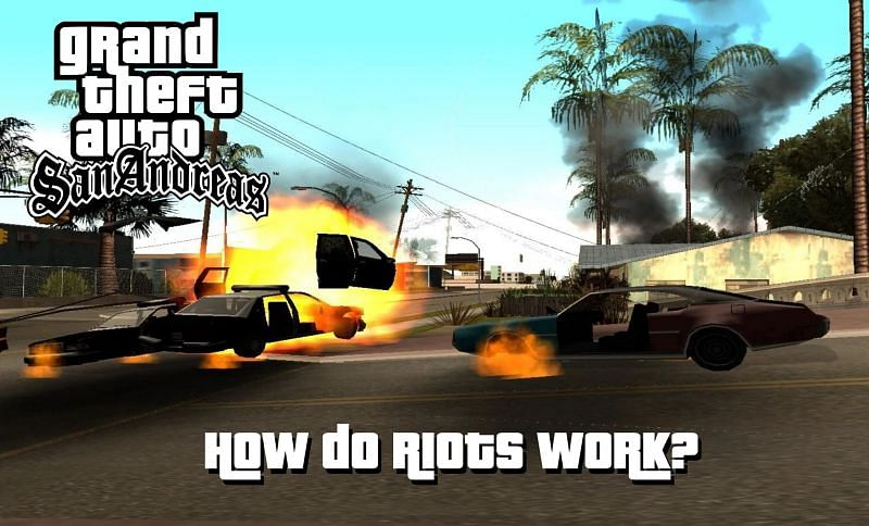 Riots are one of the craziest aspects of GTA San Andreas (Image via Sportskeeda)