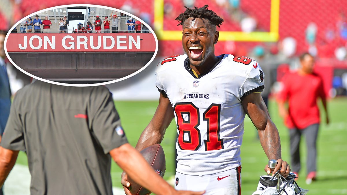 Buccaneers remove Jon Gruden from Ring of Honor, yet leave Antonio Brown in Ring of Huddle