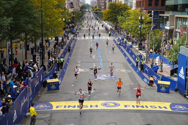 Boston Marathon Live Updates: Scenes from the Finish Line and Results