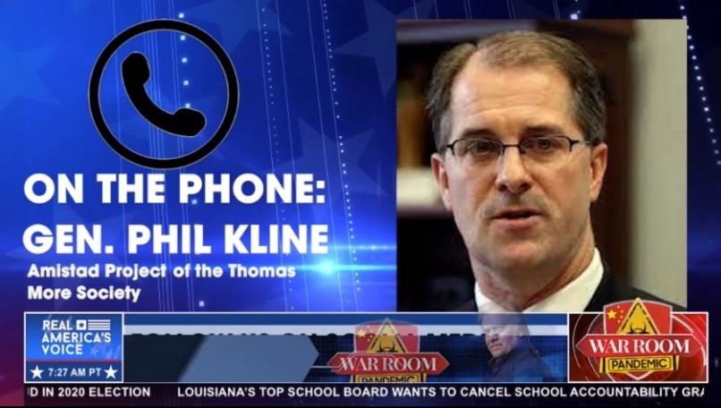 Phill Kline from Amistad Project Joins The War Room on Zuckerberg's Election Interference