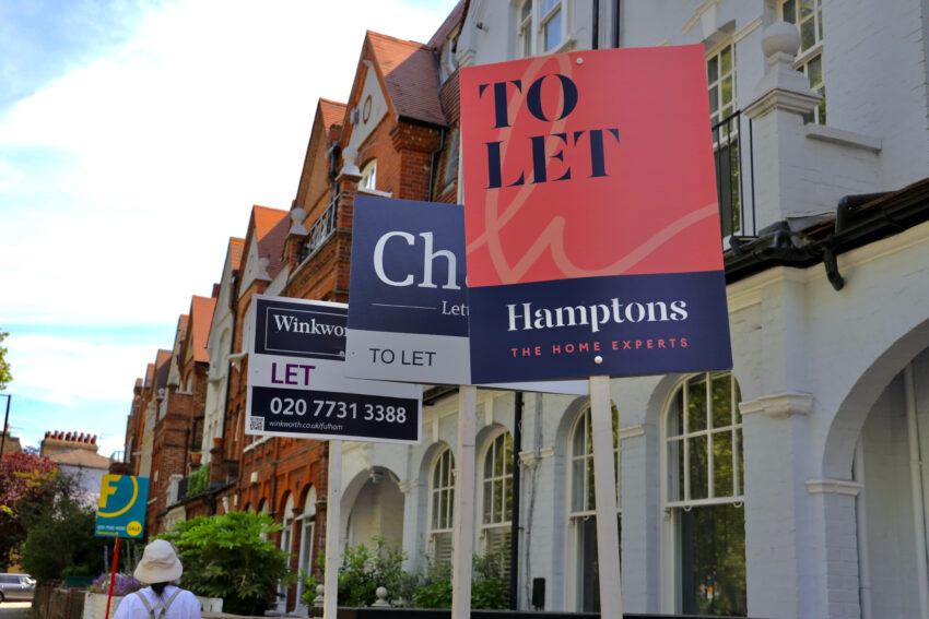 Low levels of buy-to-let activity have sent rents higher in the UK, according to a Hamptons report.