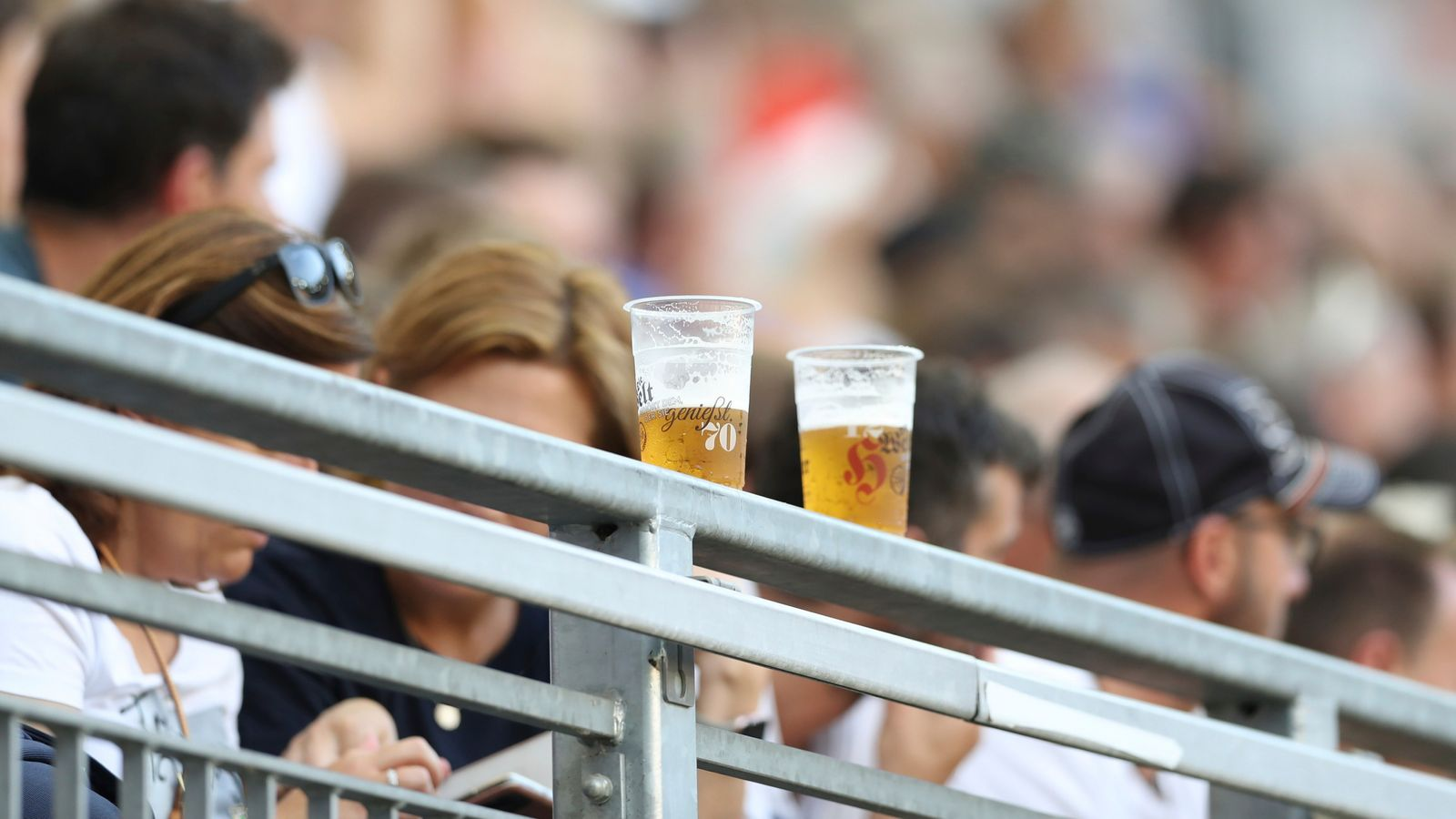 Football fans in the UK have not been able to drink alcohol in their seats since 1985