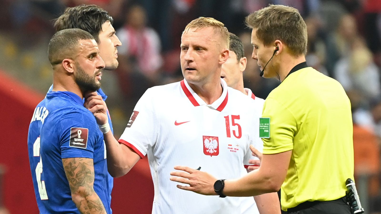 Kamil Glik and Kyle Walker's clash will not be subject to further investigation