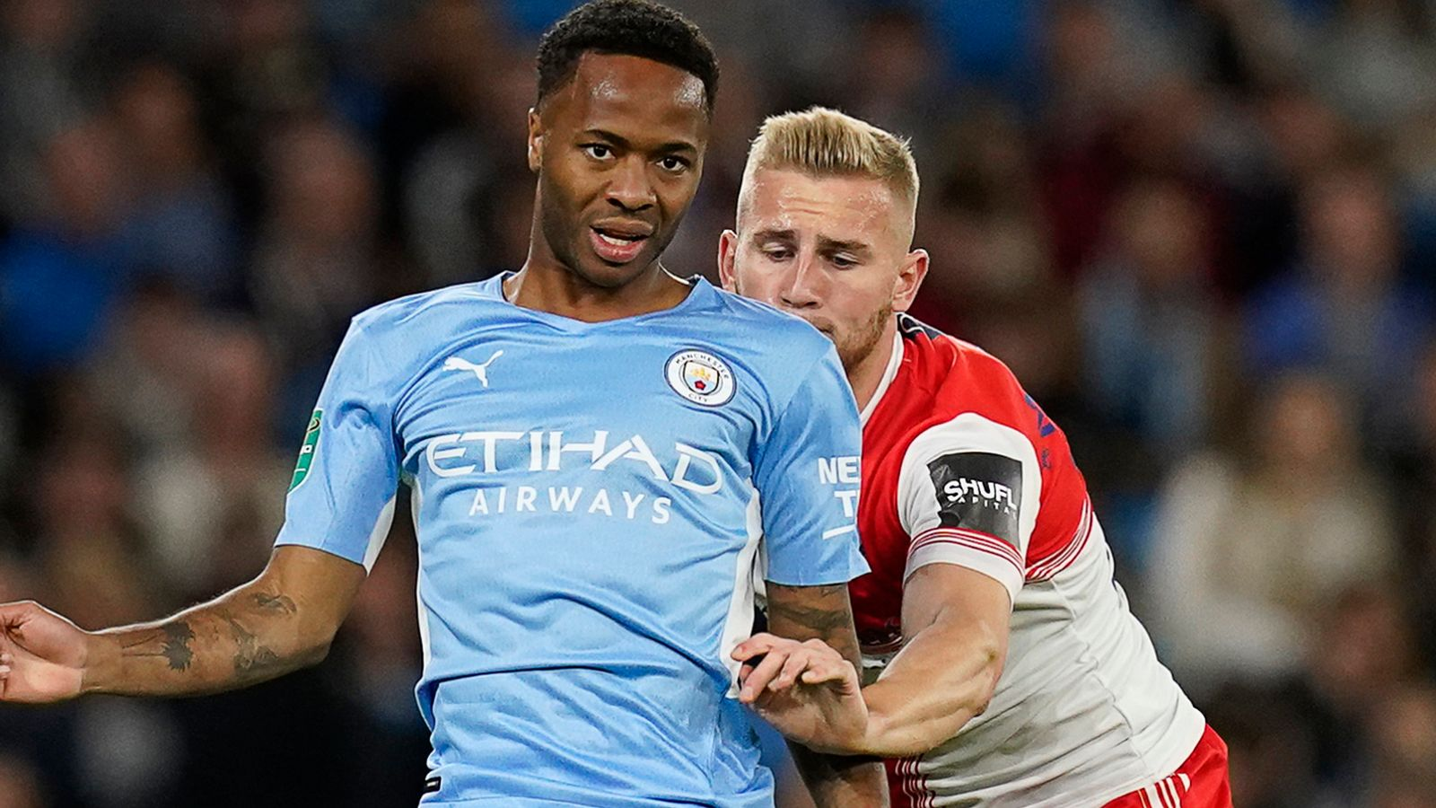 Raheem Sterling has been left frustrated by his lack of game time at Manchester City over the past few months