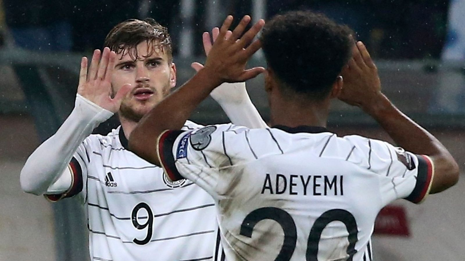 Timo Werner scored twice as Germany booked their place in Qatar